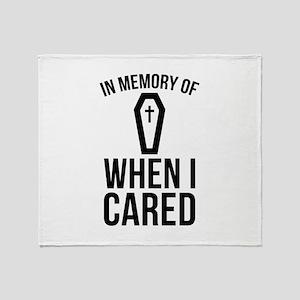 In Memory Of Wen I Cared Stadium Blanket