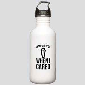 In Memory Of Wen I Cared Stainless Water Bottle 1.