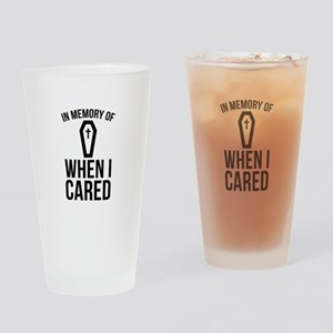 In Memory Of Wen I Cared Drinking Glass