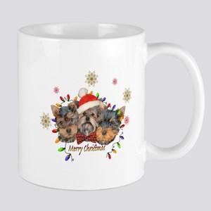 Yorkie Christmas Mugs