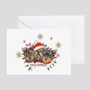 Yorkie Christmas Greeting Cards