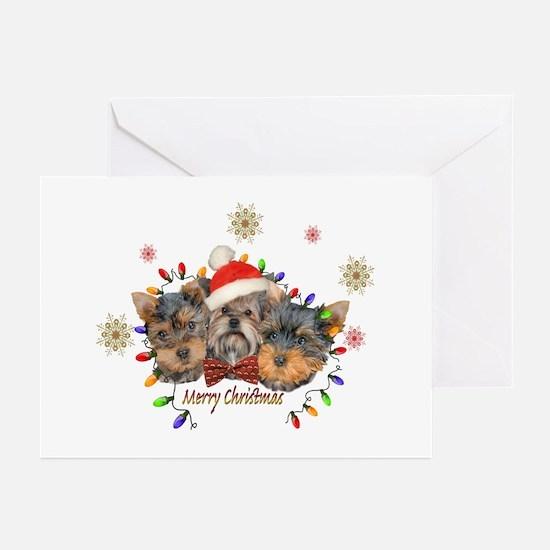 Yorkie Christmas Greeting Cards