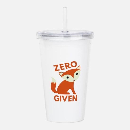 Zero Fox Given Acrylic Double-wall Tumbler