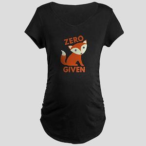 Zero Fox Given Maternity Dark T-Shirt