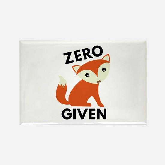 Zero Fox Given Rectangle Magnet