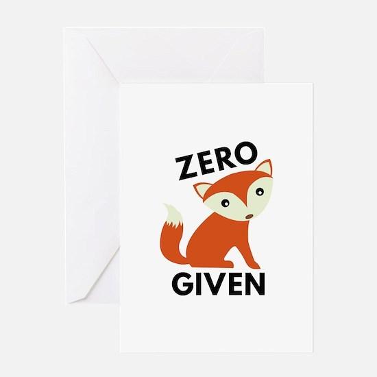 Zero Fox Given Greeting Card