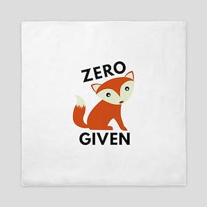 Zero Fox Given Queen Duvet
