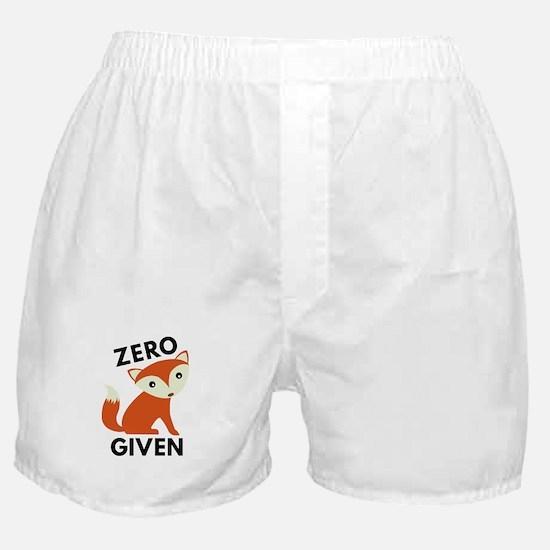 Zero Fox Given Boxer Shorts