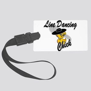 Line Dancing Chick #4 Large Luggage Tag