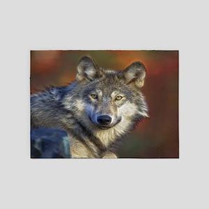 Wolfs Life 5'x7'Area Rug