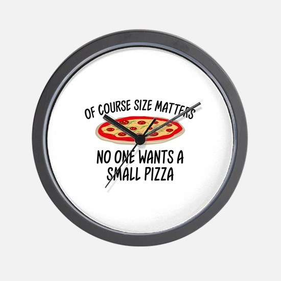 Of Course Size Matters Wall Clock