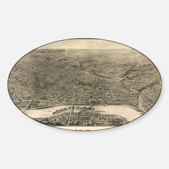 Cool St paul Sticker (Oval)