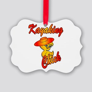 Kayaking Chick #5 Picture Ornament