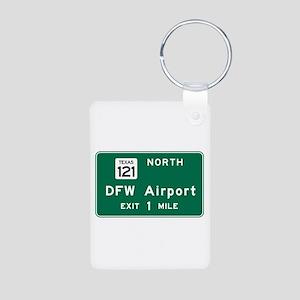 DFW Airport, Dallas-Fort W Aluminum Photo Keychain