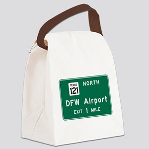 DFW Airport, Dallas-Fort Worth, T Canvas Lunch Bag