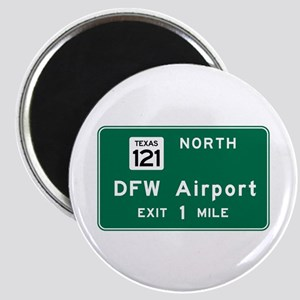 DFW Airport, Dallas-Fort Worth, TX Road Sig Magnet