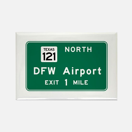 DFW Airport, Dallas-Fort Worth, T Rectangle Magnet