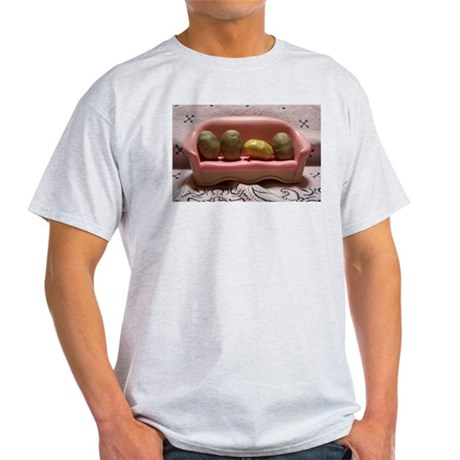Couch Potatoes Ash Grey T-Shirt