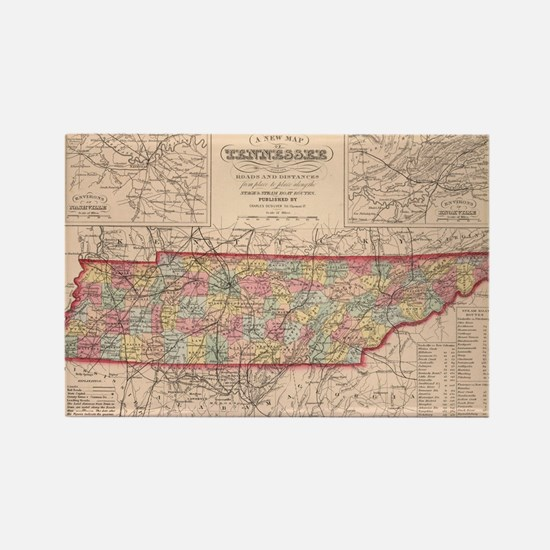 Cool Tennessee Rectangle Magnet