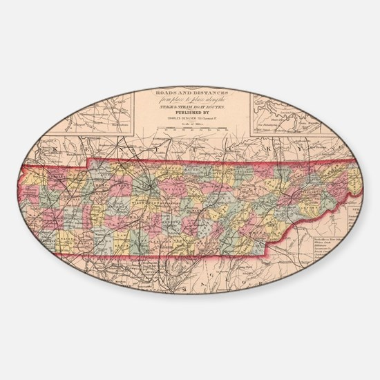 Funny Tennessee Sticker (Oval)