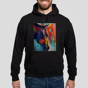 Graffiti This, Horse Abstract Pop Ar Hoodie (dark)