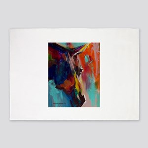 Graffiti This, Horse Abstract Pop A 5'x7'Area Rug