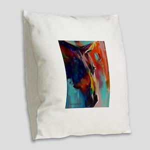 Graffiti This, Horse Abstract Burlap Throw Pillow