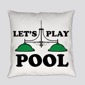 Lets Play Pool Everyday Pillow