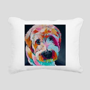 Wheaten Terrier Kirby Ja Rectangular Canvas Pillow
