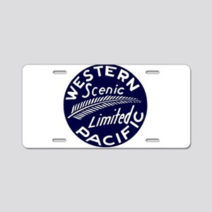 WP Scenic Limited Railway Aluminum License Plate