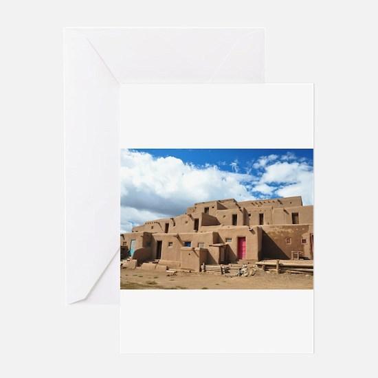 Taos Pueblo Greeting Cards