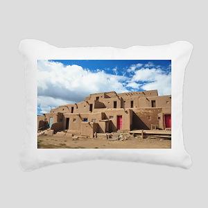 Taos Pueblo Rectangular Canvas Pillow