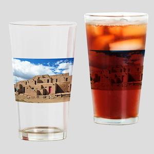 Taos Pueblo Drinking Glass