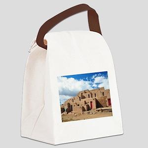 Taos Pueblo Canvas Lunch Bag