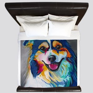 Maggie the Border Collie, Aussie, Austr King Duvet