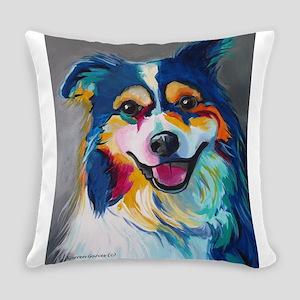 Maggie the Border Collie, Aussie, Everyday Pillow