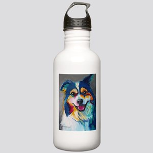 Maggie the Border Coll Stainless Water Bottle 1.0L