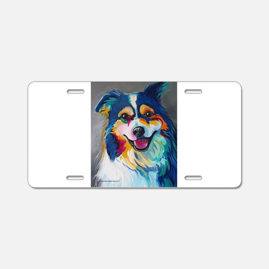Maggie the Border Collie, A Aluminum License Plate
