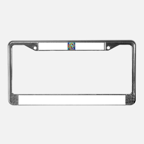 Charlie Brown The Doodle License Plate Frame