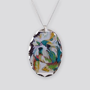 Shih Tzu - Grady Necklace Oval Charm