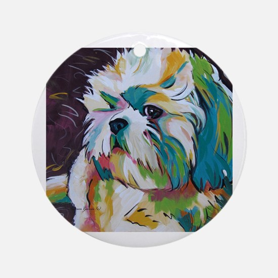 Shih Tzu - Grady Round Ornament