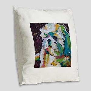 Shih Tzu - Grady Burlap Throw Pillow