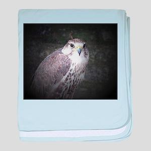 Falcon, Bird of Prey by Tom Conway. baby blanket