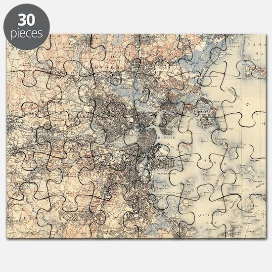 Cool Vintage boston Puzzle