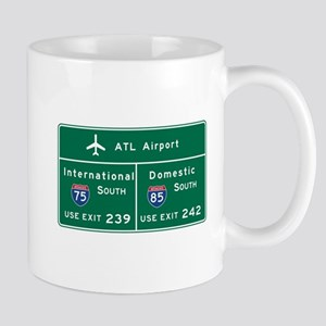 Atlanta Airport, GA Road Sign, USA Mug