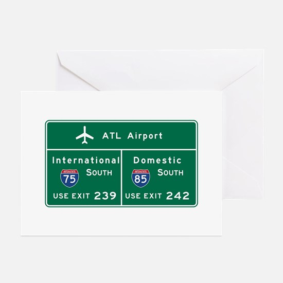 Atlanta Airport, GA Road Greeting Cards (Pk of 10)
