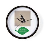 Flying Raven Wall Clock