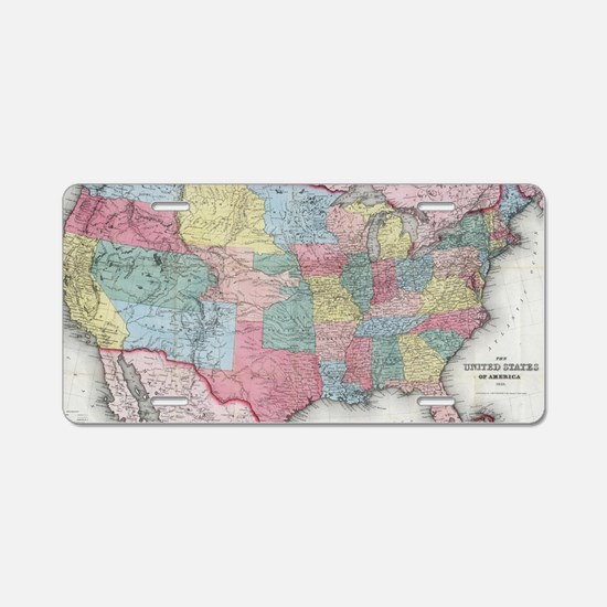 Cute United states Aluminum License Plate
