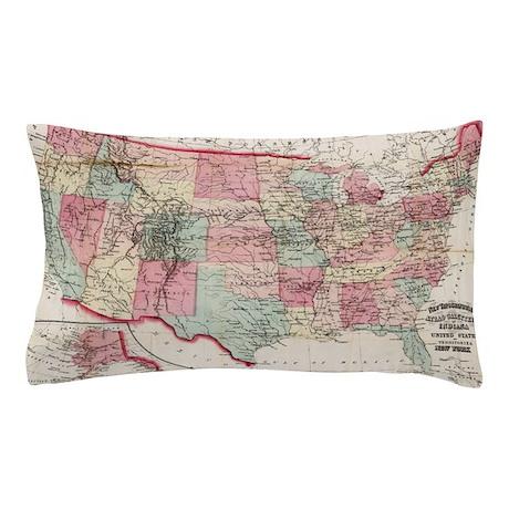 United States Map Bedding CafePress