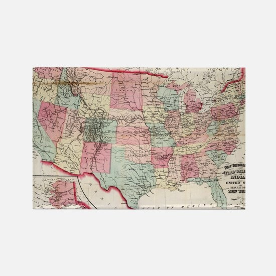Funny Us map Rectangle Magnet